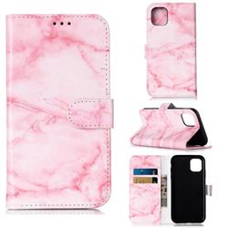 Pink Marble PU Leather Wallet Case for iPhone 11 (6.1 inch)