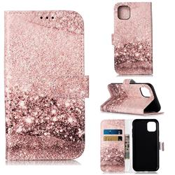 Glittering Rose Gold PU Leather Wallet Case for iPhone 11 (6.1 inch)