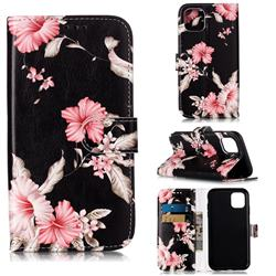 Azalea Flower PU Leather Wallet Case for iPhone 11 (6.1 inch)