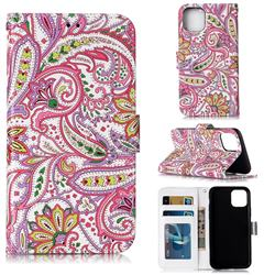 Pepper Flowers 3D Relief Oil PU Leather Wallet Case for iPhone 11 (6.1 inch)