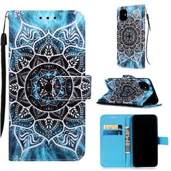 Underwater Mandala Matte Leather Wallet Phone Case for iPhone 11 (6.1 inch)