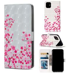 Cherry Blossom 3D Painted Leather Phone Wallet Case for iPhone 11 (6.1 inch)