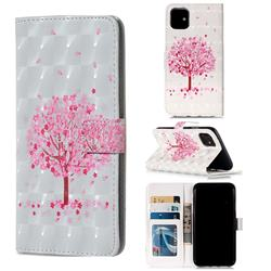 Sakura Flower Tree 3D Painted Leather Phone Wallet Case for iPhone 11 (6.1 inch)