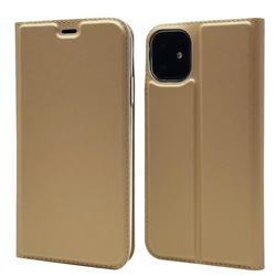 Ultra Slim Card Magnetic Automatic Suction Leather Wallet Case for iPhone 11 (6.1 inch) - Champagne