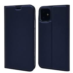 Ultra Slim Card Magnetic Automatic Suction Leather Wallet Case for iPhone 11 (6.1 inch) - Royal Blue