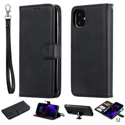 Retro Greek Detachable Magnetic PU Leather Wallet Phone Case for iPhone 11 (6.1 inch) - Black
