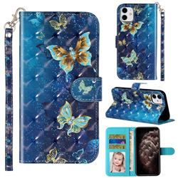 Rankine Butterfly 3D Leather Phone Holster Wallet Case for iPhone 11 (6.1 inch)