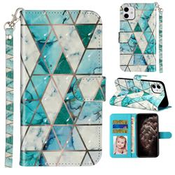 Stitching Marble 3D Leather Phone Holster Wallet Case for iPhone 11 (6.1 inch)