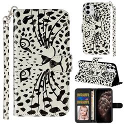 Leopard Panther 3D Leather Phone Holster Wallet Case for iPhone 11 (6.1 inch)