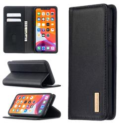 Binfen Color BF06 Luxury Classic Genuine Leather Detachable Magnet Holster Cover for iPhone 11 (6.1 inch) - Black