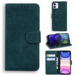 Retro Classic Skin Feel Leather Wallet Phone Case for iPhone 11 (6.1 inch) - Green