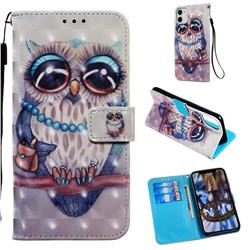 Sweet Gray Owl 3D Painted Leather Wallet Case for iPhone 11 (6.1 inch)