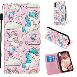 Angel Pony 3D Painted Leather Wallet Case for iPhone 11 (6.1 inch)