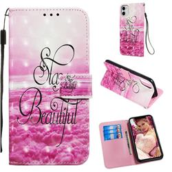 Beautiful 3D Painted Leather Wallet Case for iPhone 11 (6.1 inch)