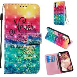 Colorful Dream Catcher 3D Painted Leather Wallet Case for iPhone 11 (6.1 inch)