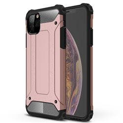King Kong Armor Premium Shockproof Dual Layer Rugged Hard Cover for iPhone 11 Pro Max (6.5 inch) - Rose Gold
