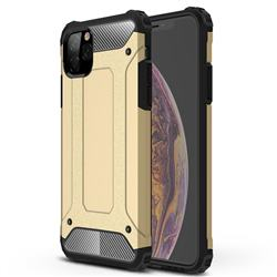 King Kong Armor Premium Shockproof Dual Layer Rugged Hard Cover for iPhone 11 Pro Max (6.5 inch) - Champagne Gold