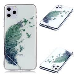 Bird Feathers Super Clear Soft TPU Back Cover for iPhone 11 Pro Max (6.5 inch)