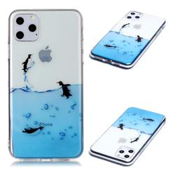 Penguin Out Sea Super Clear Soft TPU Back Cover for iPhone 11 Pro Max (6.5 inch)