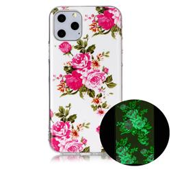 Peony Noctilucent Soft TPU Back Cover for iPhone 11 Pro Max (6.5 inch)