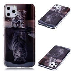 Cat and Tiger Soft TPU Cell Phone Back Cover for iPhone 11 Pro Max (6.5 inch)
