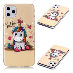 Hello Unicorn Soft TPU Cell Phone Back Cover for iPhone 11 Pro Max (6.5 inch)