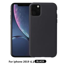 Howmak Slim Liquid Silicone Rubber Shockproof Phone Case Cover for iPhone 11 Max (6.5 inch) - Black