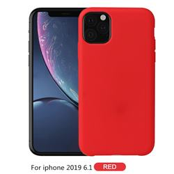 Howmak Slim Liquid Silicone Rubber Shockproof Phone Case Cover for iPhone 11 Max (6.5 inch) - Red