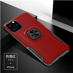 Knight Armor Anti Drop PC + Silicone Invisible Ring Holder Phone Cover for iPhone 11 Pro Max (6.5 inch) - Red