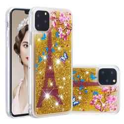 Golden Tower Dynamic Liquid Glitter Quicksand Soft TPU Case for iPhone 11 Pro Max (6.5 inch)