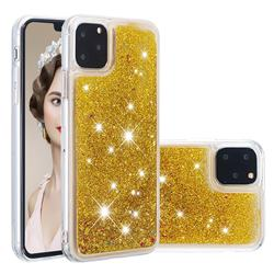 Dynamic Liquid Glitter Quicksand Sequins TPU Phone Case for iPhone 11 Pro Max (6.5 inch) - Golden