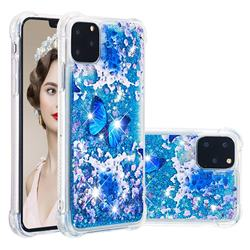 Flower Butterfly Dynamic Liquid Glitter Sand Quicksand Star TPU Case for iPhone 11 Pro Max (6.5 inch)