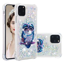Sweet Gray Owl Dynamic Liquid Glitter Sand Quicksand Star TPU Case for iPhone 11 Pro Max (6.5 inch)