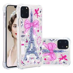 Mirror and Tower Dynamic Liquid Glitter Sand Quicksand Star TPU Case for iPhone 11 Pro Max (6.5 inch)