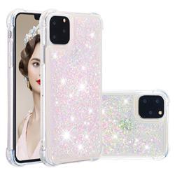 Dynamic Liquid Glitter Sand Quicksand TPU Case for iPhone 11 Pro Max (6.5 inch) - Silver Powder Star
