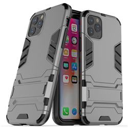 Armor Premium Tactical Grip Kickstand Shockproof Dual Layer Rugged Hard Cover for iPhone 11 Pro Max (6.5 inch) - Gray