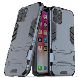 Armor Premium Tactical Grip Kickstand Shockproof Dual Layer Rugged Hard Cover for iPhone 11 Pro Max (6.5 inch) - Navy