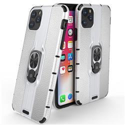 Alita Battle Angel Armor Metal Ring Grip Shockproof Dual Layer Rugged Hard Cover for iPhone 11 Pro Max (6.5 inch) - Silver