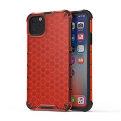 Honeycomb TPU + PC Hybrid Armor Shockproof Case Cover for iPhone 11 Pro Max (6.5 inch) - Red