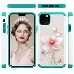 Pearl Flower Shock Absorbing Hybrid Defender Rugged Phone Case Cover for iPhone 11 Pro Max (6.5 inch)