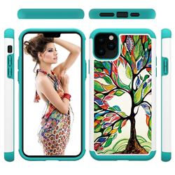 Multicolored Tree Shock Absorbing Hybrid Defender Rugged Phone Case Cover for iPhone 11 Pro Max (6.5 inch)
