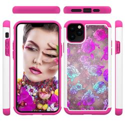 peony Flower Shock Absorbing Hybrid Defender Rugged Phone Case Cover for iPhone 11 Pro Max (6.5 inch)