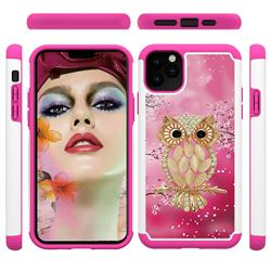 Seashell Cat Shock Absorbing Hybrid Defender Rugged Phone Case Cover for iPhone 11 Pro Max (6.5 inch)
