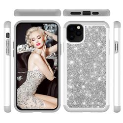 Glitter Rhinestone Bling Shock Absorbing Hybrid Defender Rugged Phone Case Cover for iPhone 11 Pro Max (6.5 inch) - Gray