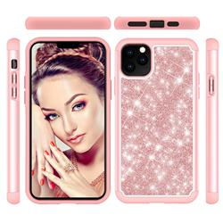 Glitter Rhinestone Bling Shock Absorbing Hybrid Defender Rugged Phone Case Cover for iPhone 11 Pro Max (6.5 inch) - Rose Gold