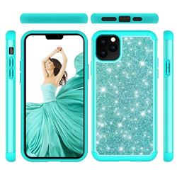 Glitter Rhinestone Bling Shock Absorbing Hybrid Defender Rugged Phone Case Cover for iPhone 11 Pro Max (6.5 inch) - Green