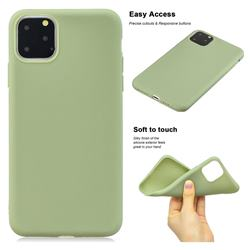 Soft Matte Silicone Phone Cover for iPhone 11 Pro Max (6.5 inch) - Bean Green