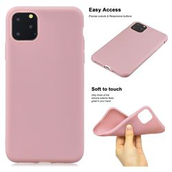 Soft Matte Silicone Phone Cover for iPhone 11 Pro Max (6.5 inch) - Lotus Color
