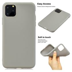 Soft Matte Silicone Phone Cover for iPhone 11 Pro Max (6.5 inch) - Gray