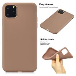 Soft Matte Silicone Phone Cover for iPhone 11 Pro Max (6.5 inch) - Khaki